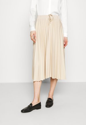 Pleated skirt - beige