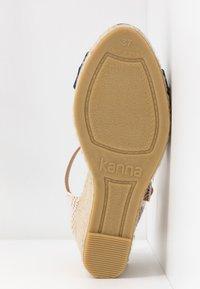 Kanna - SIENA - High heeled sandals - marino - 6