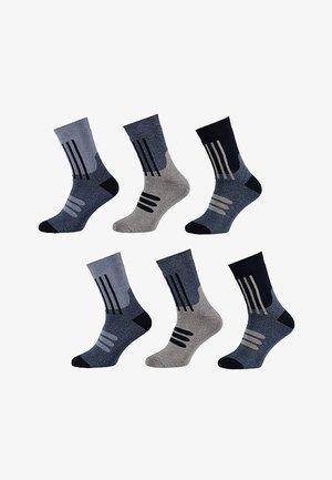 6 pack - Sokken - multi blue