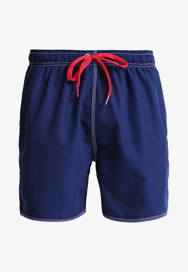 FUNDAMENTALS SOLID - Swimming shorts - navy/red