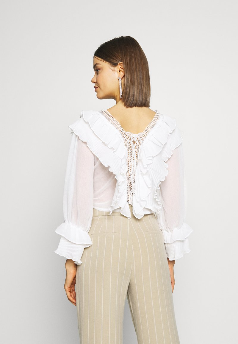 YAS YASLAURA - Bluse - bright white/weiß PYgtb7