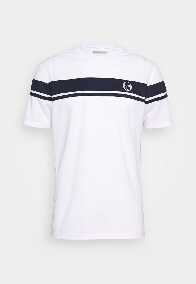 YOUNG LINE PRO T-SHIRT - Camiseta estampada - white/navy