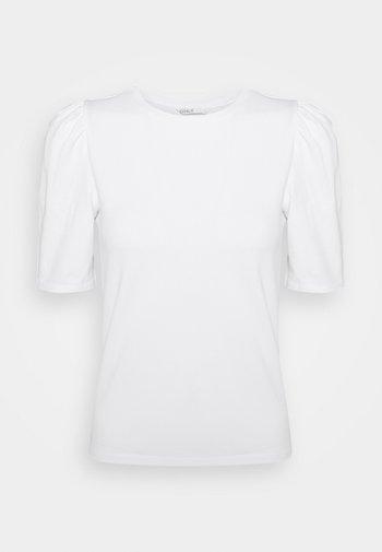 ONLLIVE LOVE LIFE PUFF - T-Shirt basic - white
