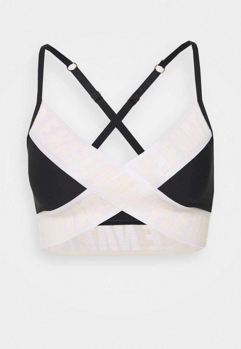 P.E Nation - FRONT RUNNER BRA - Medium support sports bra - black