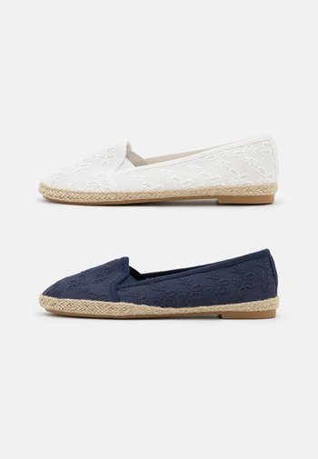 2 PACK - Loafers - white/dark blue