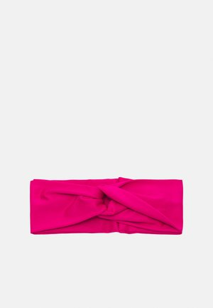 TWIST KNOT HEADBAND - Oorwarmers - fireberry/white
