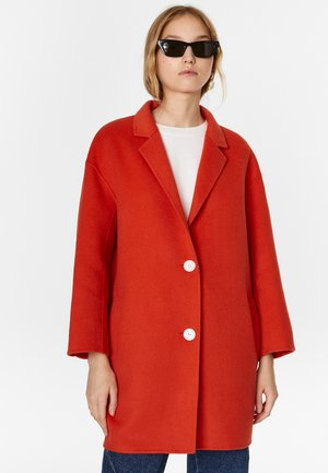 BIMBA Y LOLA DOUBLE-SIDED CORAL COAT - Short coat - coral