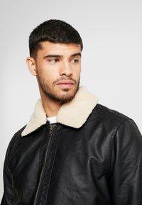 Tiffosi - FLYER - Faux leather jacket - black - 4