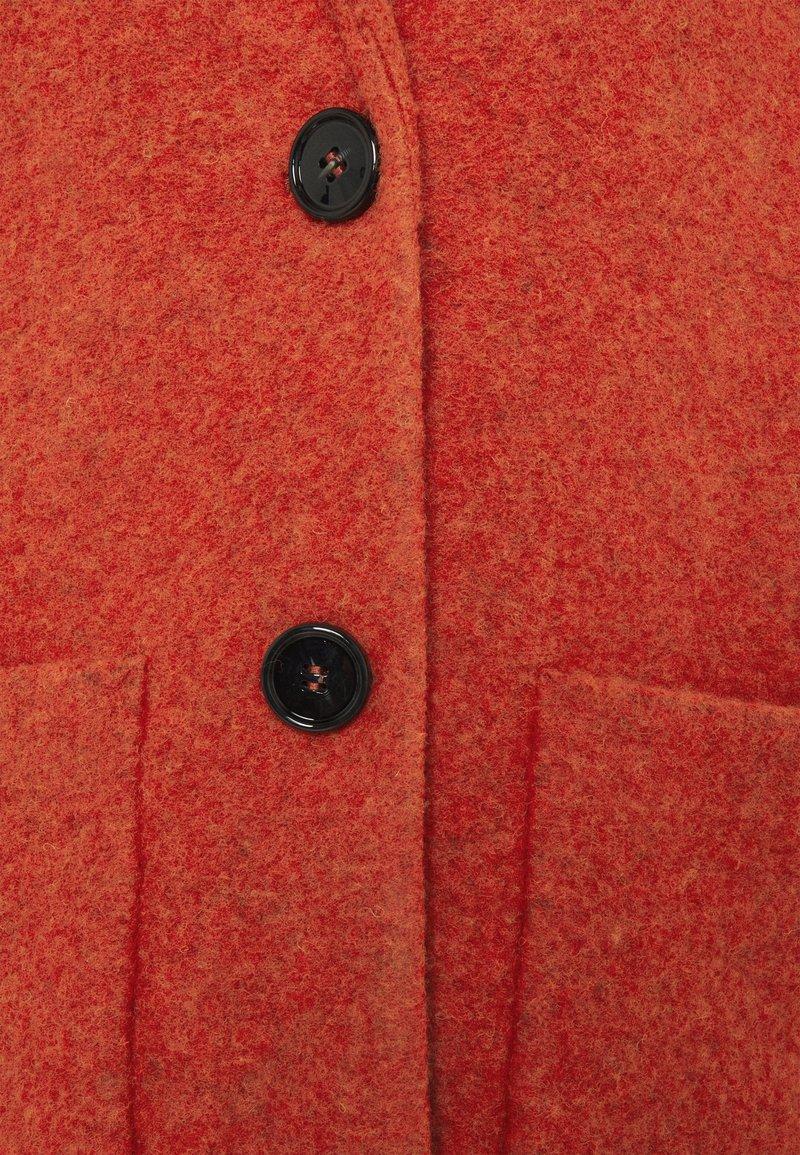 More & More COAT - Wollmantel/klassischer Mantel - terracotta/rot-metallic f5pZfm