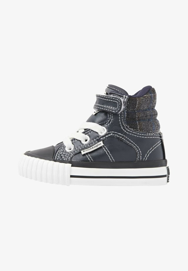 SNEAKER ATOLL - Sneakers alte - navy/dk grey checker