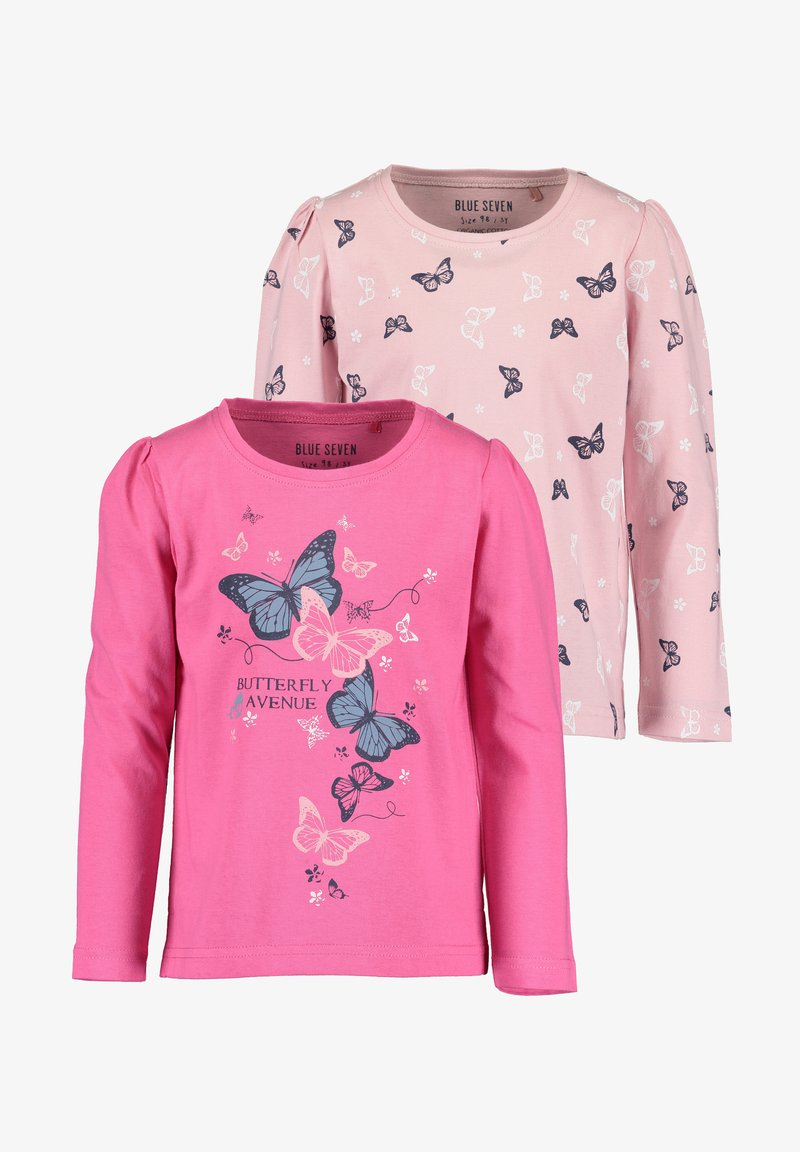 Blue Seven - COLOR YOUR LIFE - Long sleeved top - m02 - rosa aop + pink