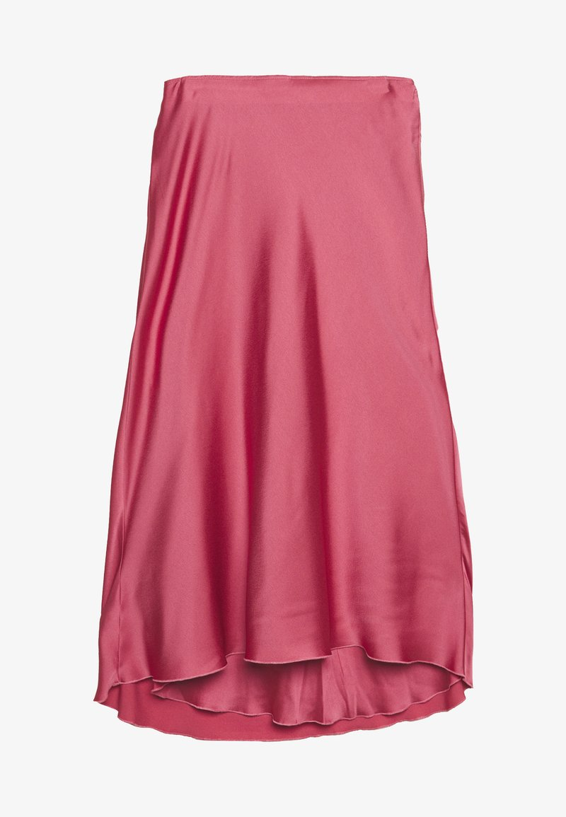 Abercrombie & Fitch - HIGH WAIST MIDI SKIRT - A-line skirt - coral