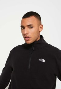 The North Face - GLACIER 1/4 ZIP - Bluza z polaru - black - 6