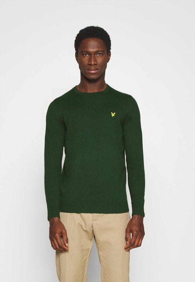 Crew Neck Jumper - Pullover - jade green