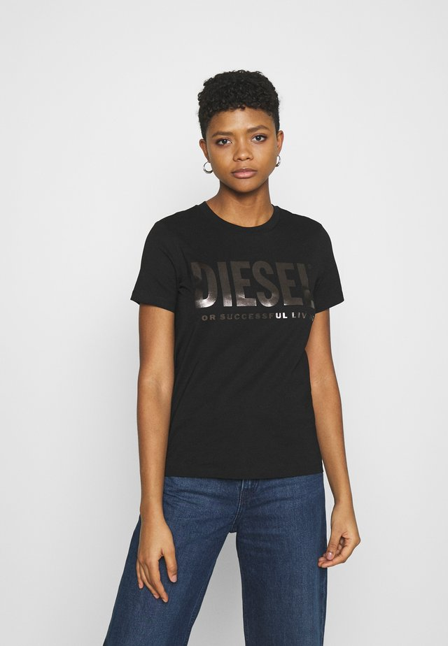 T-SILY-WX - T-shirt con stampa - black