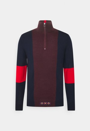 MENS ZIP NECK - Jumper - dark blue