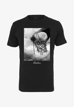 HERREN BALLIN  - Print T-shirt - black