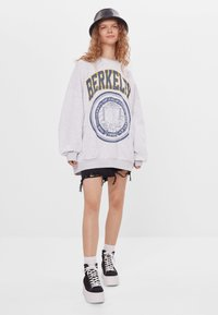 Bershka - MIT PRINT - Sweatshirt - light grey