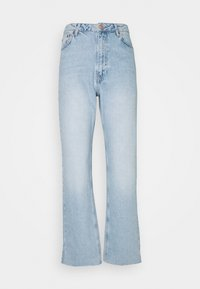 NA-KD - HIGH WAIST RAW - Jean droit - light blue - 0