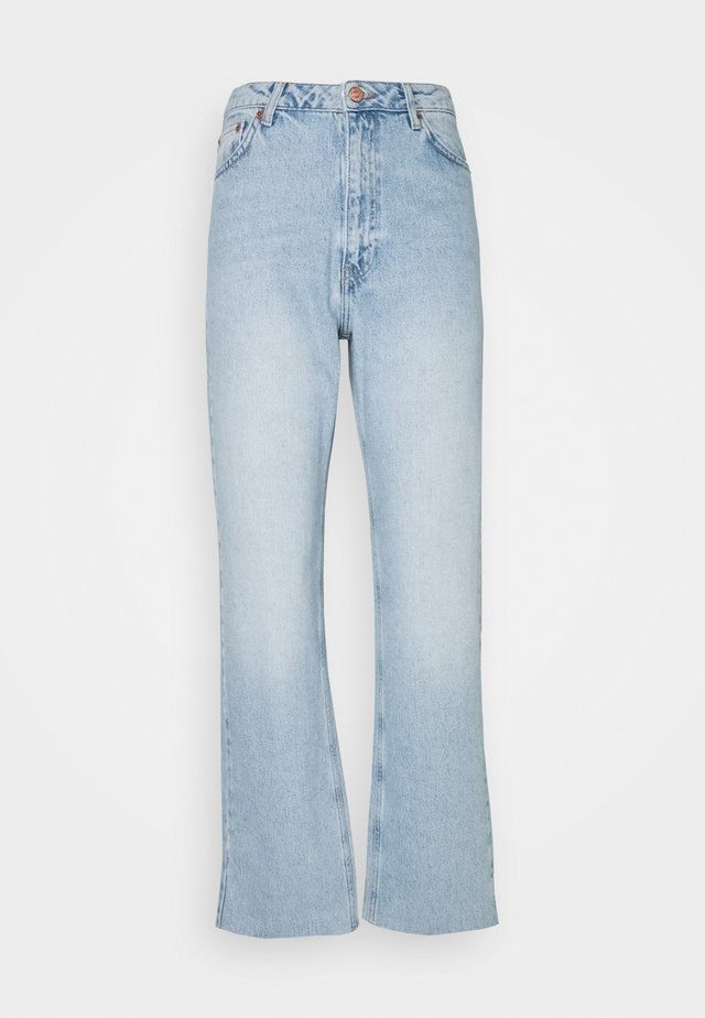 HIGH WAIST RAW - Jeans straight leg - light blue
