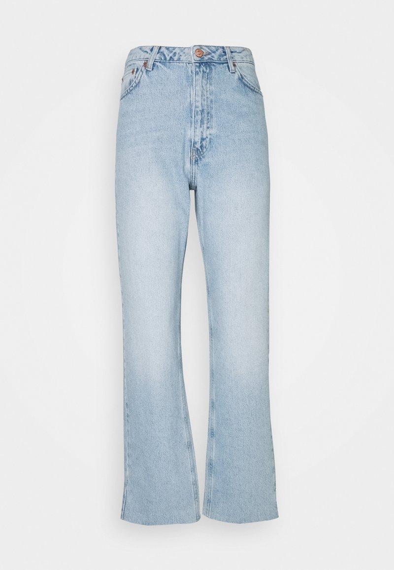 NA-KD - HIGH WAIST RAW - Jean droit - light blue