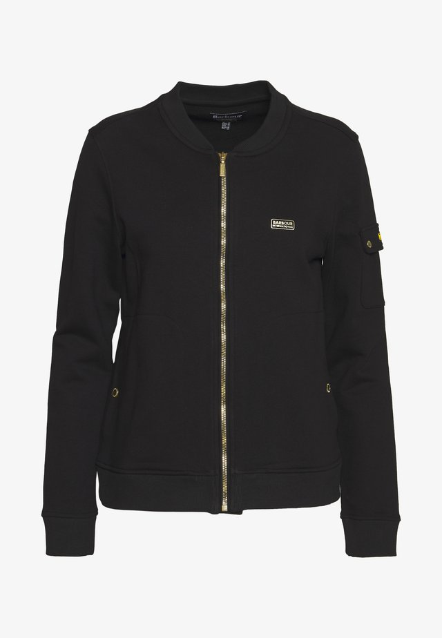 MAGNA OVERLAYER - veste en sweat zippée - black