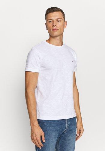 SLUB TEE - T-shirt - bas - white