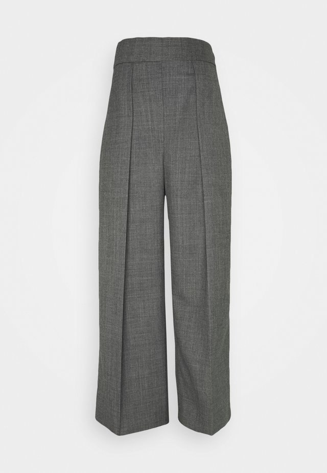 HIGH WAISTED ONE PLEAT - Kangashousut - slate grey melange