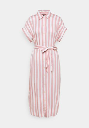 BOLD DRESS - Shirt dress - pink/white