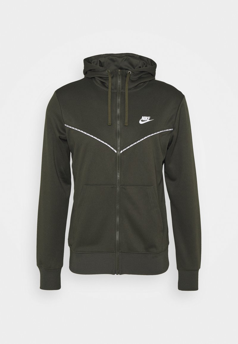 Nike Sportswear - REPEAT HOODIE - Zip-up sweatshirt - cargo khaki