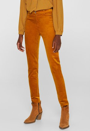 Trousers - amber yellow