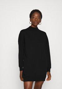 ONLY - ONLVINA HIGHNECK DRESS - Day dress - black - 0