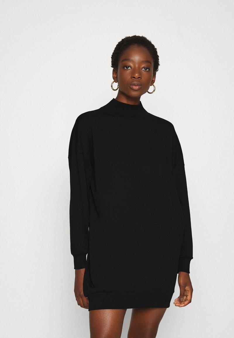 ONLY - ONLVINA HIGHNECK DRESS - Day dress - black