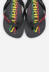 Havaianas - TOP LOGOMANIA  - Pool shoes - black/red - 4