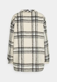 Missguided - OVERSIZED CHECK SHACKET - Summer jacket - ecru - 1
