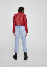 PULL&BEAR - Faux leather jacket - metallic red - 2