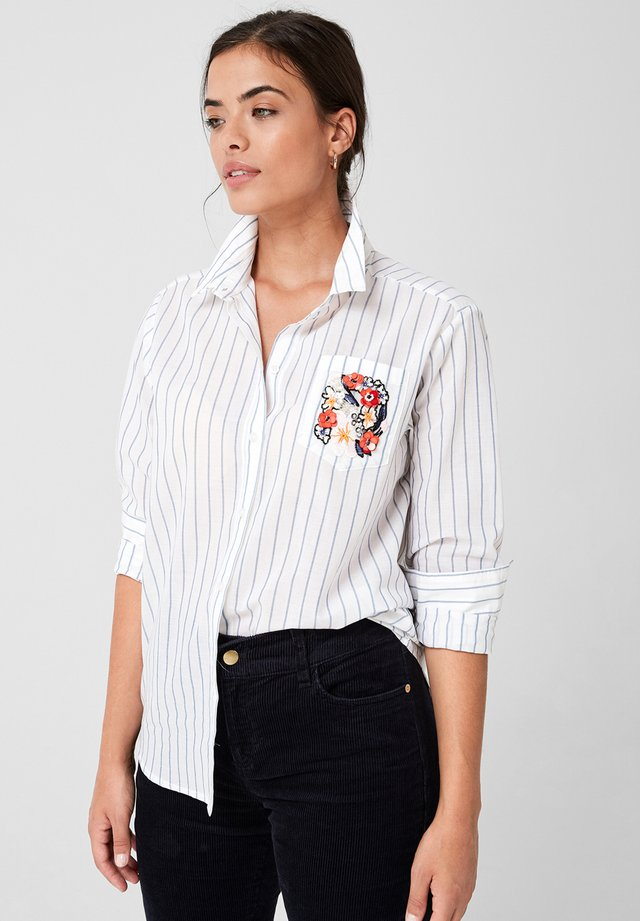 MIT EMBROIDERY ARTWORK - Button-down blouse - white