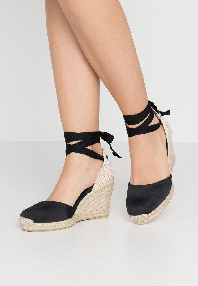 CLARA BY DAY - Korolliset sandaalit - black