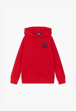 BASIC BOY  - Mikina na zip - red