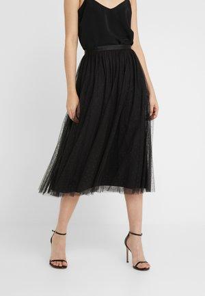 KISSES TULLE MIDAXI SKIRT - Áčková sukně - ballet black