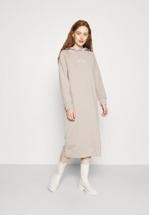 HOODED DRESS - Vestido informal - light taupe