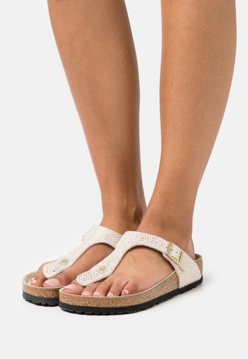 Birkenstock - GIZEH - T-bar sandals - eggshell