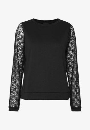 ONLLINETTA SLEEVE ONECK - Sweatshirt - black