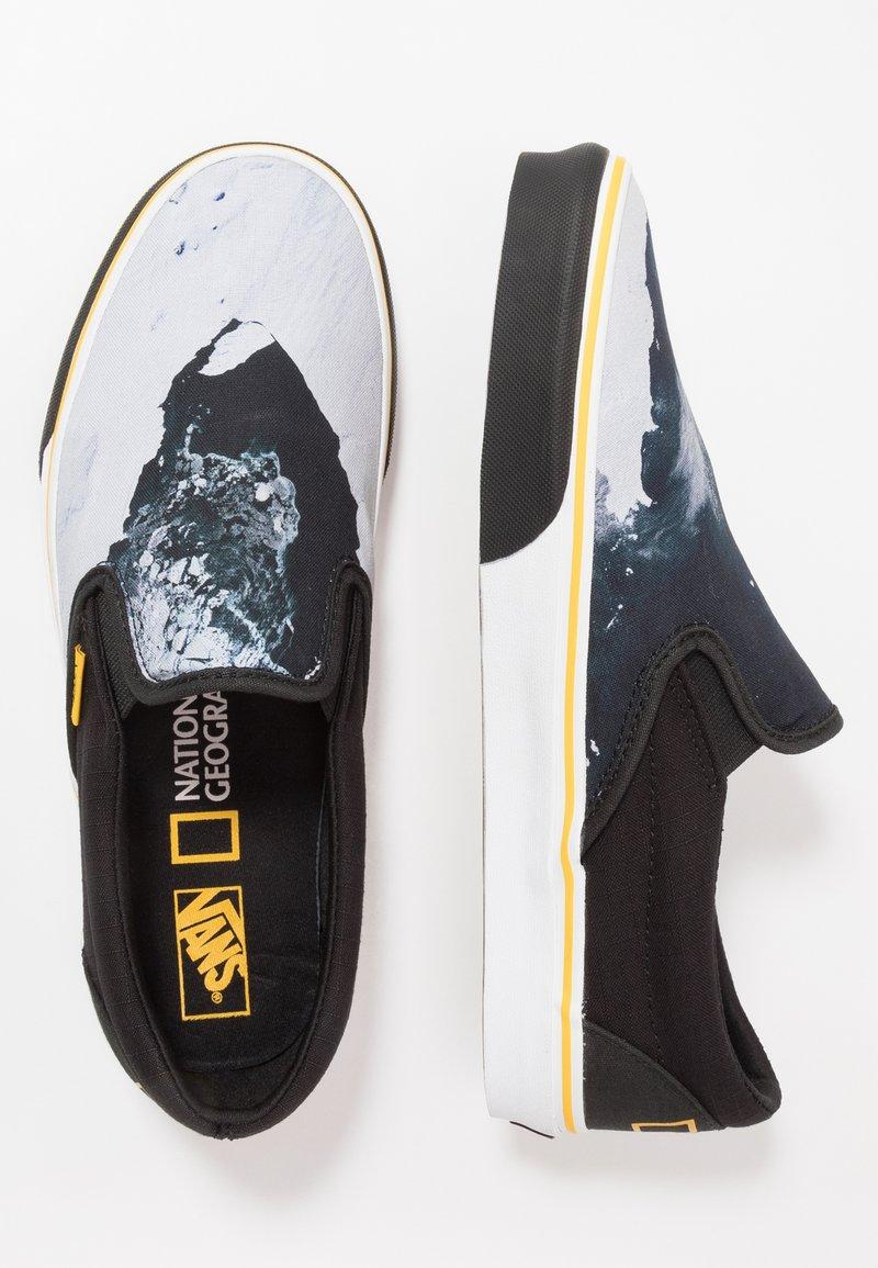 Vans - CLASSIC - Nazouvací boty - black/blue/yellow