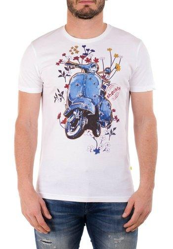 VESPA - Print T-shirt - white