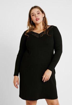 CARALBERTHE KNEE DRESS - Sukienka dzianinowa - black
