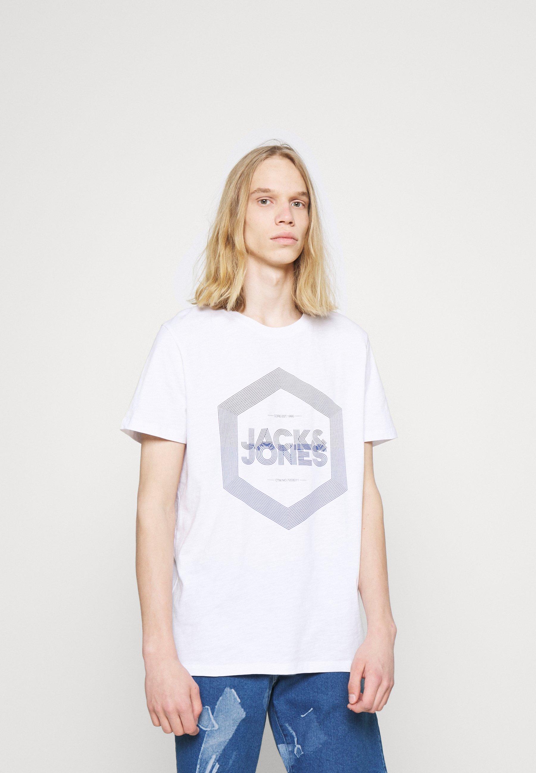 Men JJDELIGHTTEE CREW NECK - Print T-shirt