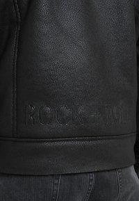 John Richmond - JACKET JARVIS - Faux leather jacket - black - 4