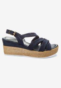Next - SOFT KNOT - Wedge sandals - dark blue - 2