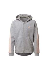 adidas Performance - STRIPES FULL-ZIP HOODIE - Zip-up hoodie - grey - 0